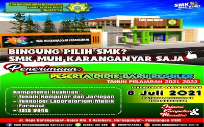 PPDB SMK Muhammadiyah Karanganyar Tahun 2021/2022